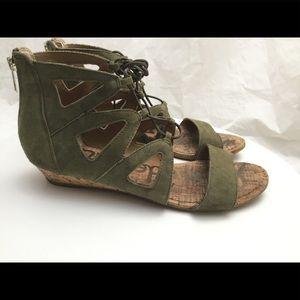 Sam Edelman Gemma Green Suede Gladiator Sandals 9